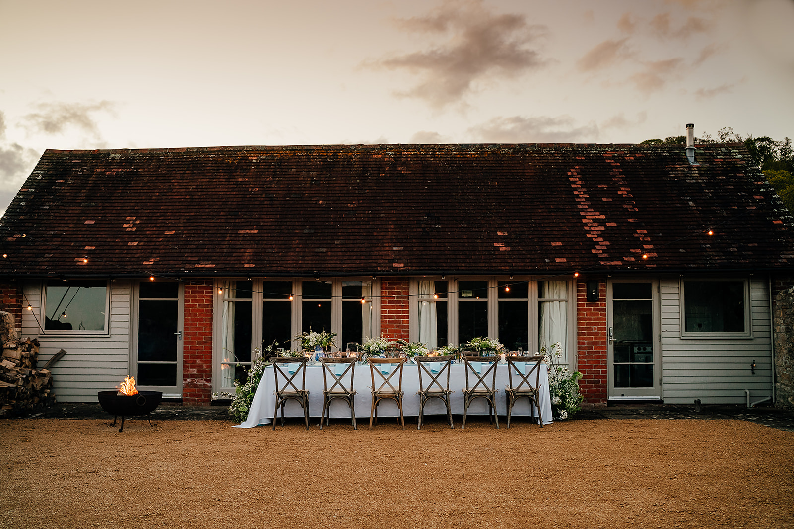 Micro-wedding at Deer Park Barn